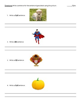 Sentence Types Test/Quiz