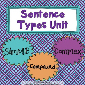 Sentence Types Unit: Simple, Compound, Complex {sentence structure}