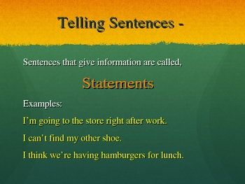 Sentence Types - What are they?