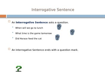 Sentence Types and End Marks Power Point