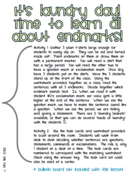 Sentence Types and Endmarks: Hang Up the Laundry