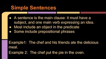 Sentence Types and Parallel Structure Powerpoint