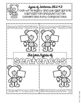 Sentence Types and Punctuation Grammar Interactive Notebook