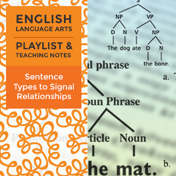 Sentence Types to Signal Relationships - Playlist and Teaching Notes