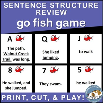 Sentence Unit Review Go Fish Game