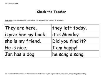 Second Grade Sentence Unit (EDITABLE!)