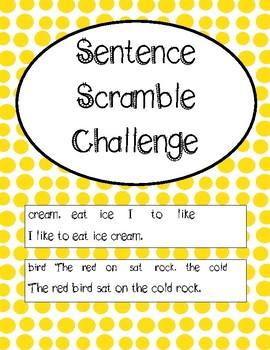 Sentence Unscramble