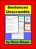 Sentences Unscramble Task Cards