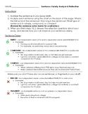Sentence Variety Analysis & Reflection