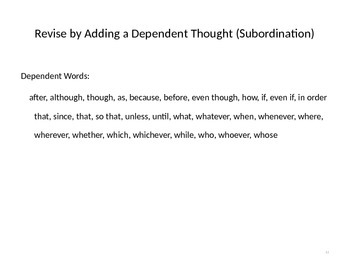 Sentence Variety Practice
