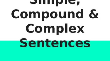 Sentence Variety (Simple, Compound, Complex)