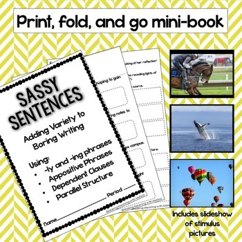 Mentor Sentences - Sentence Variety for Middle and High School - UPDATED