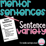 Mentor Sentences - Sentence Variety for Middle and High Sc
