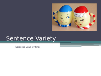 Sentence Variety and Sentence Types Power Point