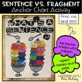 Sentence Vs. Fragment Anchor Chart Activity