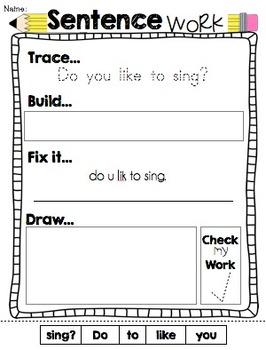 Sentence Work