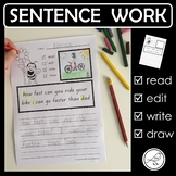 Sentence Work – capital letters, full stops and question marks.
