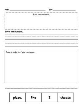 Sentence Worksheets