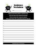 Sentence Workshop - Identify the Parts of Speech - Common Core Practice