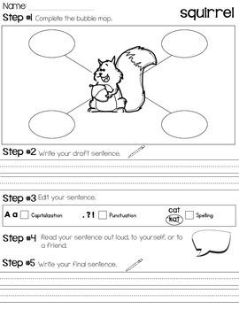 Sentence Writing /Fall Theme