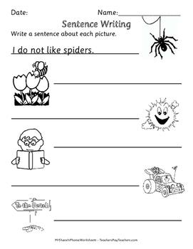 Sentence Writing Worksheets