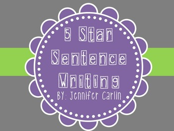 Sentence Writing - 5 Star Writing