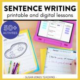 Writing Sentences Activities & Lessons: PRINTABLE & DIGITA
