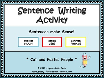 Sentence Writing Activity - Cut and Paste: People
