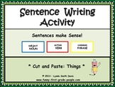 Sentence Writing Activity - Cut and Paste: Things
