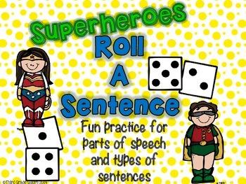 Sentence Writing Activity - Superheroes
