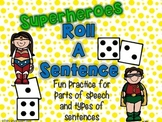 Sentence Writing Activity - Superheroes