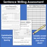 Sentence Writing Assessment