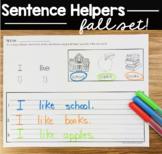 Sentence writing Fall -Thanksgiving