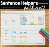 Sentence writing Fall -Thanksgiving