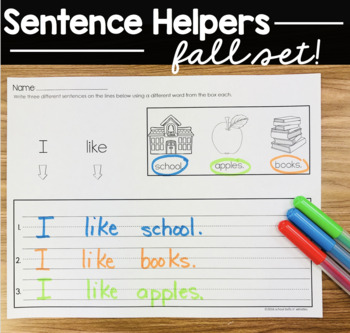 Sentence Writing / Back to School/ Fall
