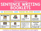 Sentence Writing Booklets Distance Learning Packet