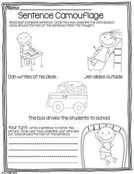 Sentence Writing Boot Camp