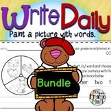 Sentence Writing Prompts Phonics Sight Words Growing Bundl