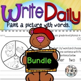 Sentence Writing Prompts Phonics Sight Words Bundle Year-Long