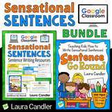 Sentence Writing Bundle with Google Classroom Activities a