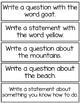 Sentence Writing Center