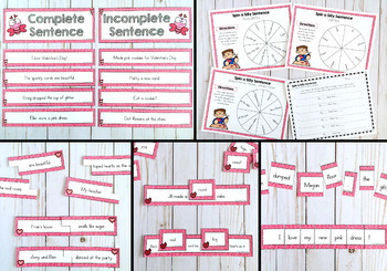 Build a Sentence Center Activities for February