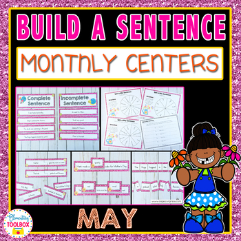 Build a Sentence Center Activities for May