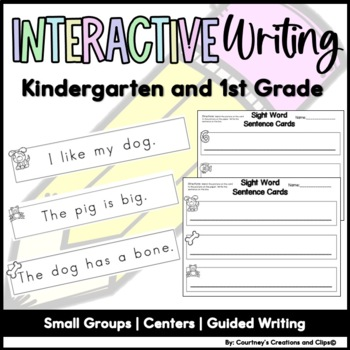 Sentence Writing Center Activities for Kindergarten or First