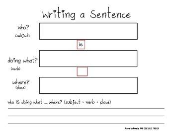 Sentence Writing **FREE**