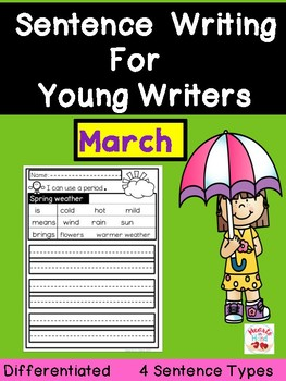 Sentence Writing For Young Writers-March