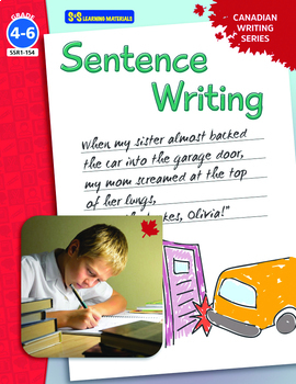 Sentence Writing Grades 4-6:  Canadian Writing Series