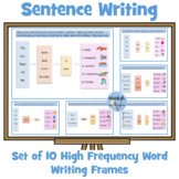 Sentence Writing - High Frequency Word Writing Frames - Set of 10