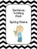 First Grade Sentence Writing Pack- Spring Theme