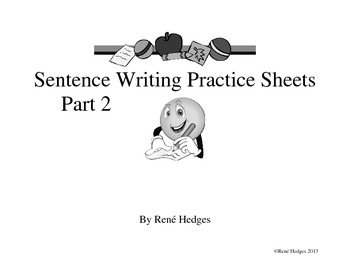 Sentence Writing Pages-Part 2